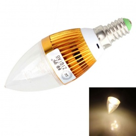 ZIQIAO JB1003 Cree 3W Cold White High-power LED Candle Light Bulb Lamp