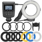Veledge Ring Style 48-LED 7-Mode Macro Shooting Speedlite - Black