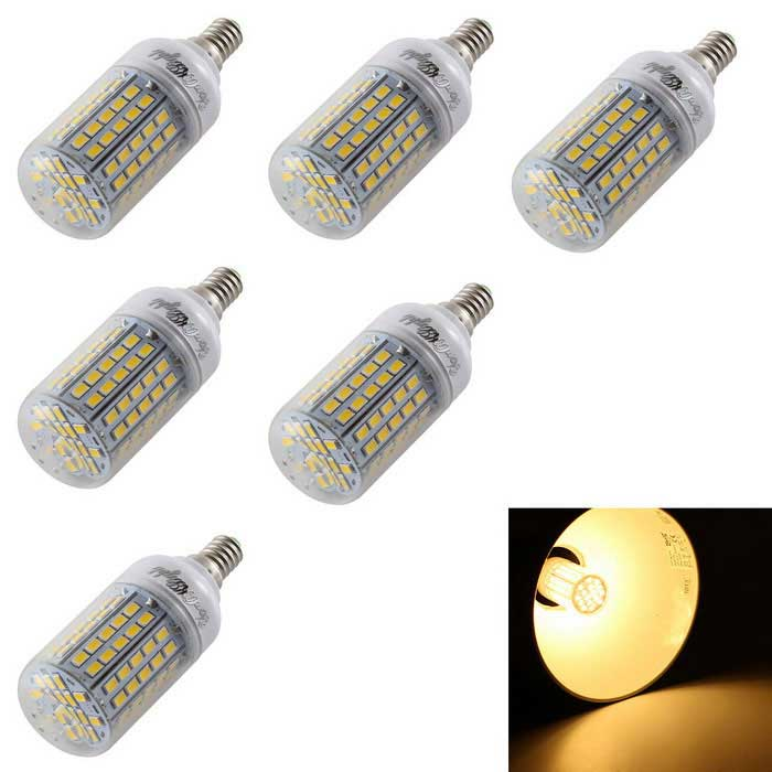 YouOKLight E14 5.5W LED Corn Bulb Lamps Warm White 96-SMD 5730 (6PCS)