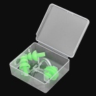 Sports Swimming Nose Clip + Ear Plugs Set - Green