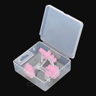 Sports Swimming Nose Clip + Ear Plugs Set - Pink
