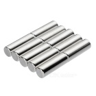Cylindrisk NdFeB neodymiummagnet D10 * 30mm - silver (10 st)