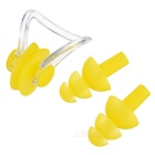 Sports Swimming Nose Clip + Ear Plugs Set - Yellow