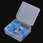 Sports Swimming Nose Clip + Ear Plugs Set - Blue