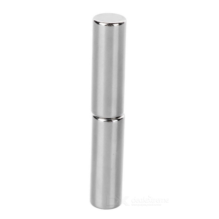 Cylindrical NdFeB Neodymium Magnet D10*30mm - Silver (2 PCS)