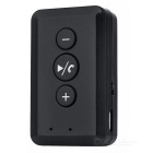 Back Clip-on 3.5mm Plug Car Bluetooth V2.1 Audio Receiver - Black