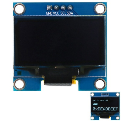 1.3'' 128*64 White Light I2C OLED Screen Display Module for Arduino