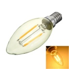 Marsing E14 2W Warm White Candle Filament LED Bulb (AC 220~240V)