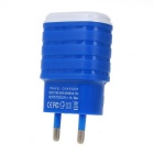 EU Plug Single USB Charger Adapter for Smart Phone - Blue (100-240V)