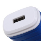 EU Plug Adapter singola USB Charger per Smart Phone - Blu (100-240V)