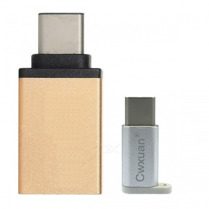 USB 3.1 Tipo CM para Micro USB / USB 3.0 F Adapter Kit - Gold + branco