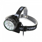 Marsing B10 10*XM-L LED 3-Mode 6000lm Cool White Bike Headlamp - Black