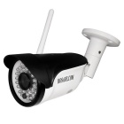 1.0MP CMOS 3.6mm Lens 90 Degree Viewing Angle 36 IR-LEDs IP Camera - White + Black (EU Plug)