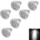 YouOKLight MR16 4W Dimmable 4-LED Spotlight Cool White (DC 12V/6PCS)