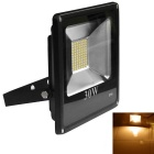 Jiawen 30W IP66 77-5730SMD Warm White LED Floodlight - Black (AC 220V)
