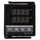 Digital LED PID-Temperaturregler Thermostat Thermometer - Schwarz