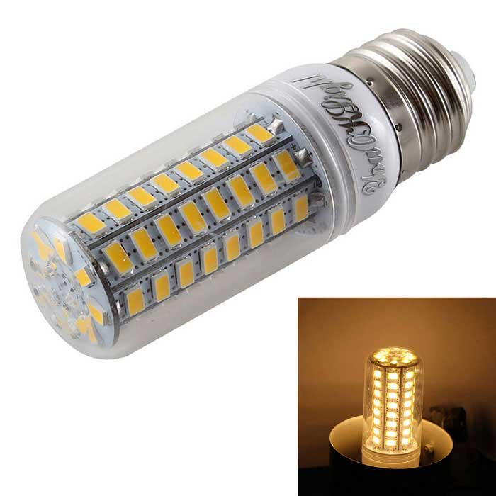 YouOKLight YK1061 E27 4.5W 72-SMD 5730 LED Corn Bulb Warm White LightE27<br>Color BINWarm WhiteModelYK1061MaterialAL + PCForm  ColorTransparent + White + Multi-ColoredQuantity1 DX.PCM.Model.AttributeModel.UnitPowerOthers,4.5WRated VoltageOthers,AC 110~120 DX.PCM.Model.AttributeModel.UnitConnector TypeE27Chip BrandOthers,SANANEmitter TypeOthers,5730 SMD LEDTotal Emitters72Theoretical Lumens300 DX.PCM.Model.AttributeModel.UnitActual Lumens300 DX.PCM.Model.AttributeModel.UnitColor Temperature3000KDimmableNoBeam Angle360 DX.PCM.Model.AttributeModel.UnitPacking List1 * LED corn bulb<br>