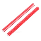 Universal Reflective Spoke Tubes for Bicycle - Red (12 PCS)