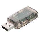 Mini USB 2.0 3D Sound Card Adapter - Translucent Black