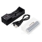 Xpower C1 Charger + Korea 2600mAh Rechargeable 18650 Battery + Case