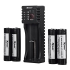 Xpower C1 Carregador + 4-Japan 2600mAh Rechargeable Battery 18650