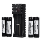 Xpower C1 Charger + 4-Korea 2600mAh Rechargeable 18650 Battery