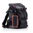 "SUNGZU ""12000mAh"" Dual USB Solar Power Battery Bank - Orange + Black"