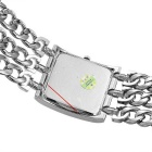 WeiQin Women's Square Dial Simple Scale Watch Bracelet - Silver