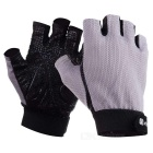 AOTU AT8823 Sports Breathable Mesh Semi Finger Gloves - Grey+Black (L)