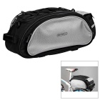 ROSWHEEL Bike Rear Rack Seat Pannier Bag - Black + Grey (13L)