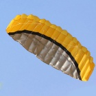 Outdoor Sports 2.5m Soft Dual Line Stunt Parafoil Kite Kit - Yellow