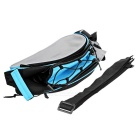 ROSWHEEL Bike Rear Rack Seat Pannier Bag - Black + Blue (13L)