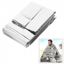 Outdoor Emergency First Aid Survival Tin Foil Blanket - Silver