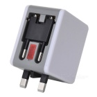 AC250V 6A 2-Port USB 2.0 Charger with US / AU / UK / EU Plug - White