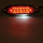 28-LED Motorcycle Bicycle Rear Lamp Brake Light - Smoke Gray