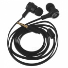 3.5mm Plug In-Ear MP3 Earphone w/ Remote / Mic. / Flat Cable - Black