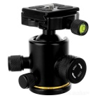 360' Rotating Damping Ball Head w/ Level for SLR Camera Tripod - Black