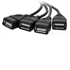 USB 2.0 to RJ45 Extension Adapter up to 150ft / 45m Length - Black