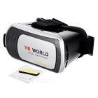 "VR Virtual Reality 3D Glasses for 3.5~6"" Mobile Phones - Black+Silver"