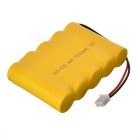 6V 700mAh NiCd Battery Pack - Yellow