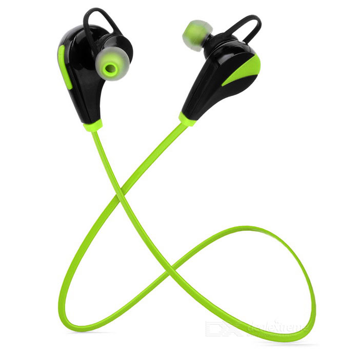 G6 Fashion Sports Stereo Bluetooth In-Ear Earphones - Green + Black