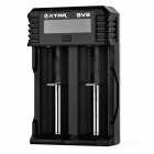 XTAR SV2 18650 Battery Charger 0,25-2A Charger 32650 26650 - Nero