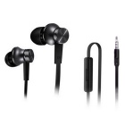Original Xiaomi Basic Version 3.5mm In-Ear Earphones w/ Mic - Black