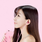 Original Xiaomi Basic Version 3.5mm In-Ear Earphones w/ Mic - Pink