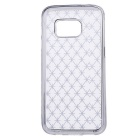 Woven Pattern Back Case for Samsung Galaxy S7 Edge - Black + White