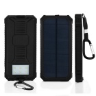 "SUNGZU ""12000mAh"" Dual USB Solar Power Battery Bank с компасом - черный"