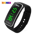 Skmei outdoor sports timing led watch - black + silver (1 * cr1225)