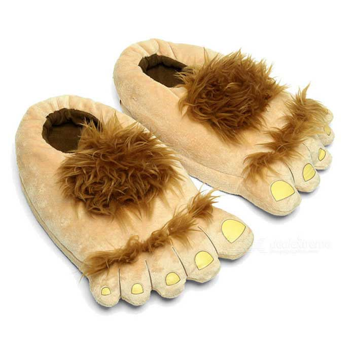 Loisirs Savage Style Pieds Peluche Chaussons - Jaune (Taille gratuit)