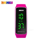 SKMEI 1119 Waterproof Sports Timing LED Watch - Deep Pink (1*CR1220)