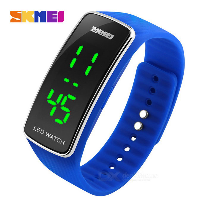 SKMEI 1119 50m Waterproof Sports Timing LED Watch - Blue (1 * CR1220)LED Watches<br>Form  ColorBlueModel1119Quantity1 DX.PCM.Model.AttributeModel.UnitShade Of ColorBlueCasing MaterialPCWristband MaterialSiliconeSuitable forOthers,StudentsGenderUnisexStyleWrist WatchTypeFashion watchesDisplayDigitalBacklightGreenMovementDigitalDisplay Format12/24 hour time formatWater ResistantWater Resistant 5 ATM or 50 m. Suitable for swimming, white water rafting, non-snorkeling water related work, and fishing.Wristband Length23 DX.PCM.Model.AttributeModel.UnitDial Diameter4.7 x 2 DX.PCM.Model.AttributeModel.UnitDial Thickness1.2 DX.PCM.Model.AttributeModel.UnitBand Width1.8 DX.PCM.Model.AttributeModel.UnitBattery1 * CR1220Packing List1 * LED watch1 * CR1220 cell (built-in)1 * Chinese / English user manual<br>